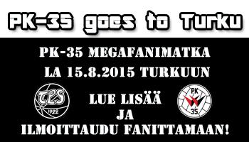 Kannattajamatka Turkuun Lauantaina 15.8.
