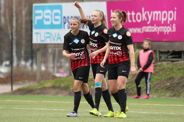 Punamustille 6-0-voitto Vappuaattona