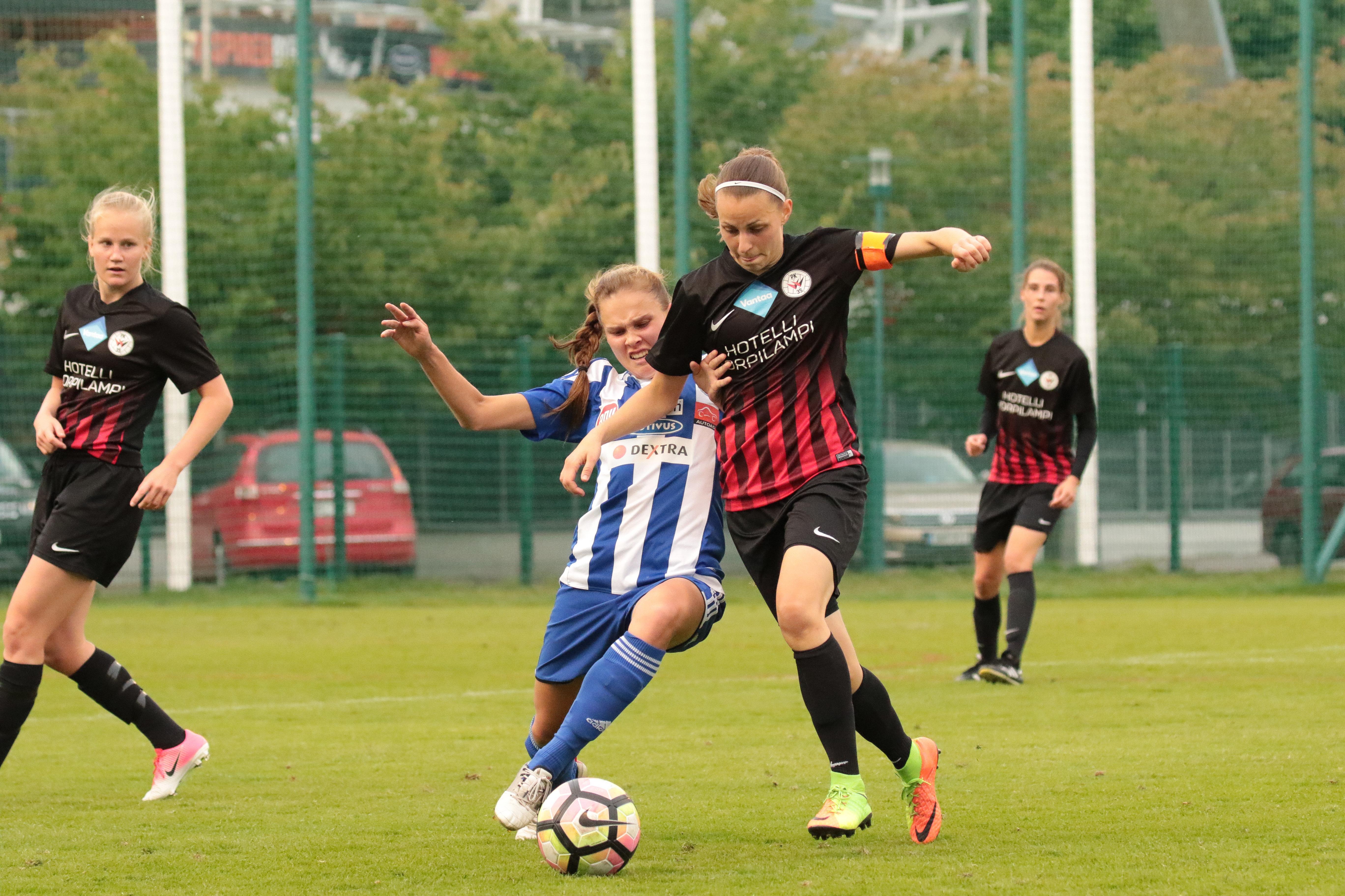 HJK – PK 35 Vantaa, 0 2, Naisten Liiga, 6.9.2017 18