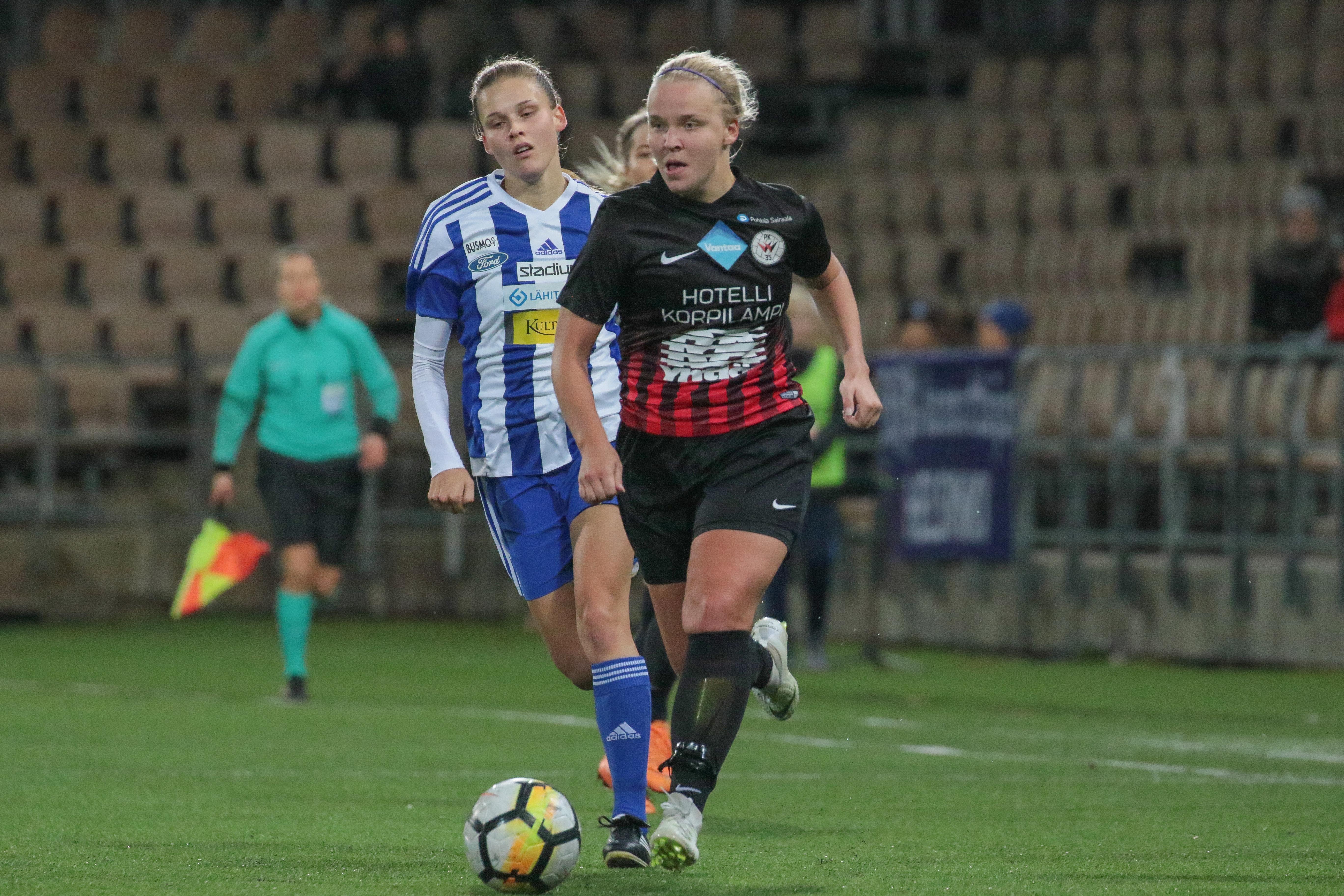 HJK – PK 35 Vantaa, 1 2, Naisten Liiga,20.10.2018, PK 35 Vantaa Suomen Mestari 63