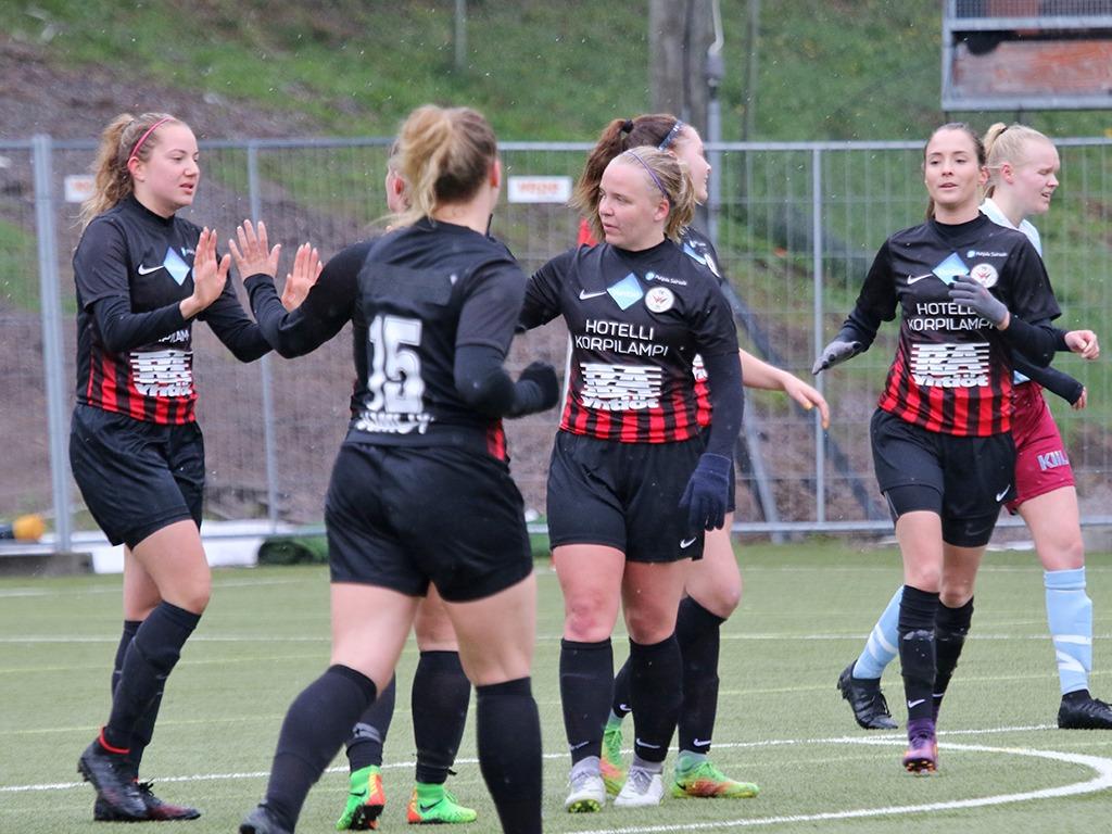 Punamustille 7-0-voitto Kotiavauksessa