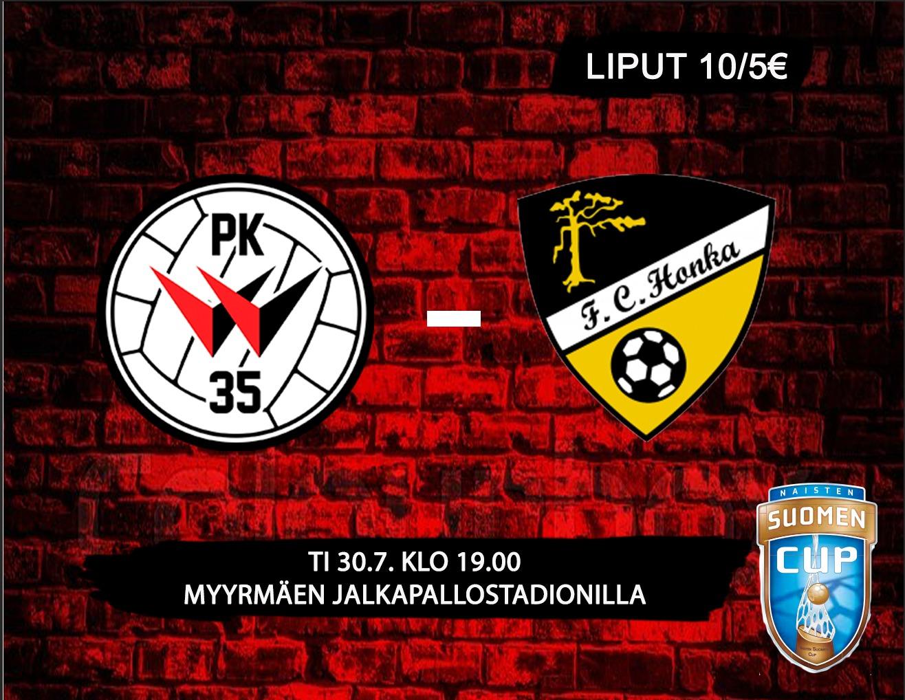 PK-35 Vantaa Saa Suomen Cupissa Vieraakseen FC Hongan