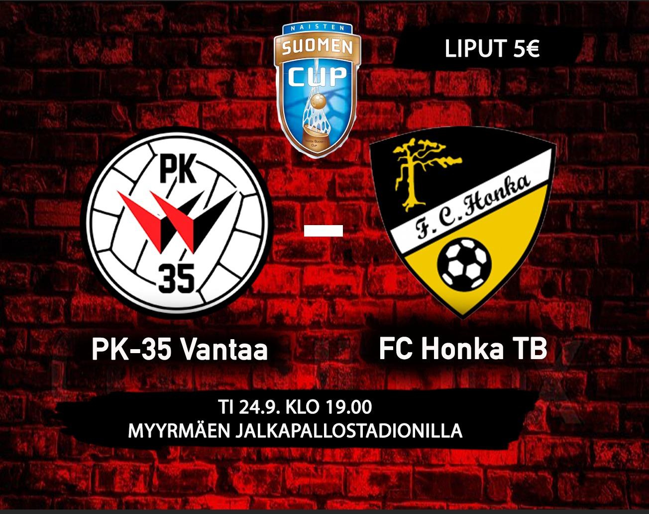 PK-35 Vantaa Kohtaa Suomen Cupissa FC Hongan B-tytöt