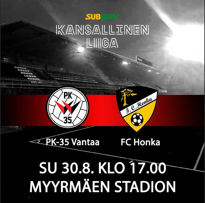 PK-35 Vantaa Emännöi Sunnuntai-illassa FC Honkaa