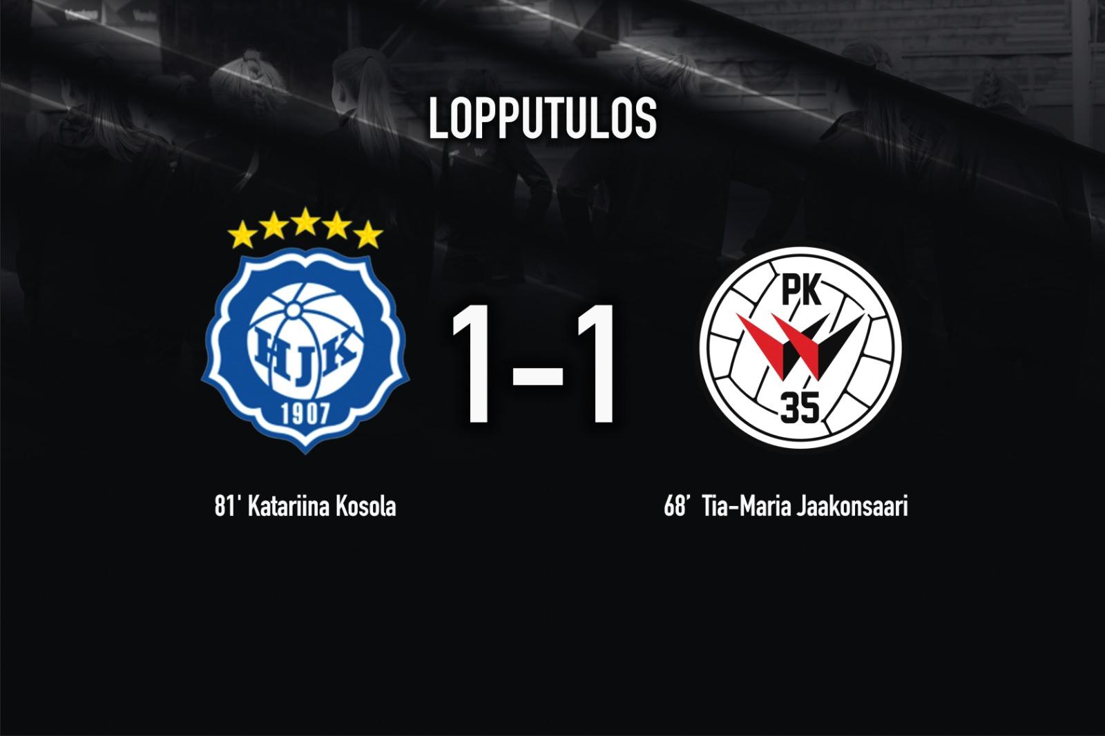 HJK – PK 35 Vantaa 1 1 7.5.2021