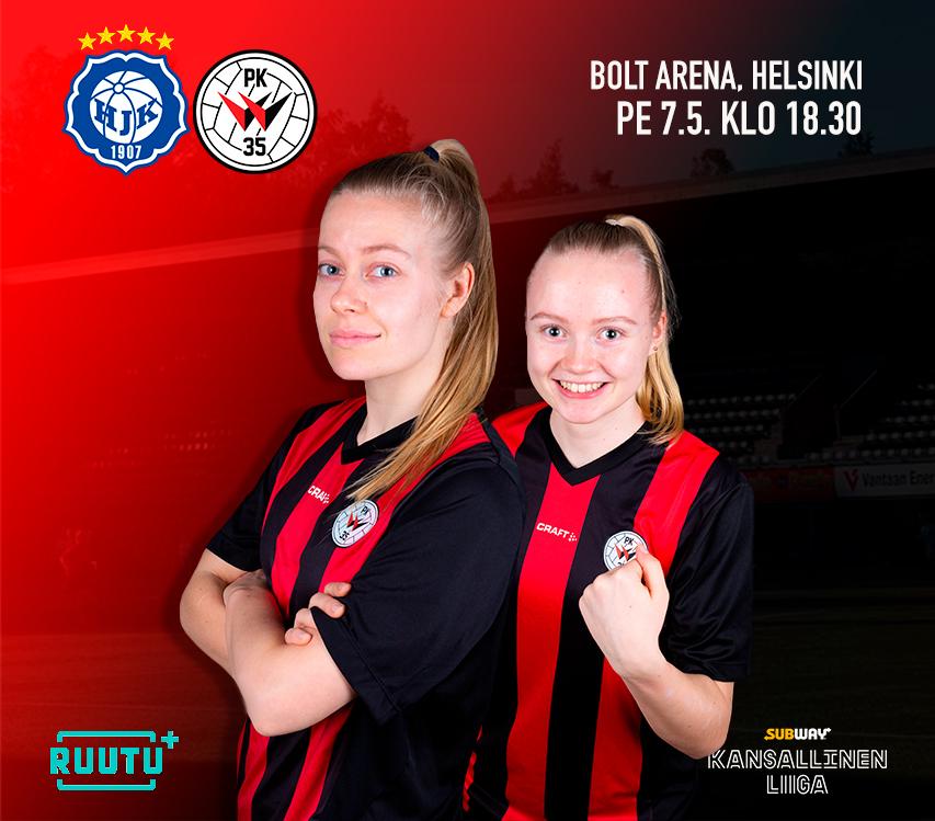 Ottelumainos, HJK – PK 35 Vantaa 7.5.2021