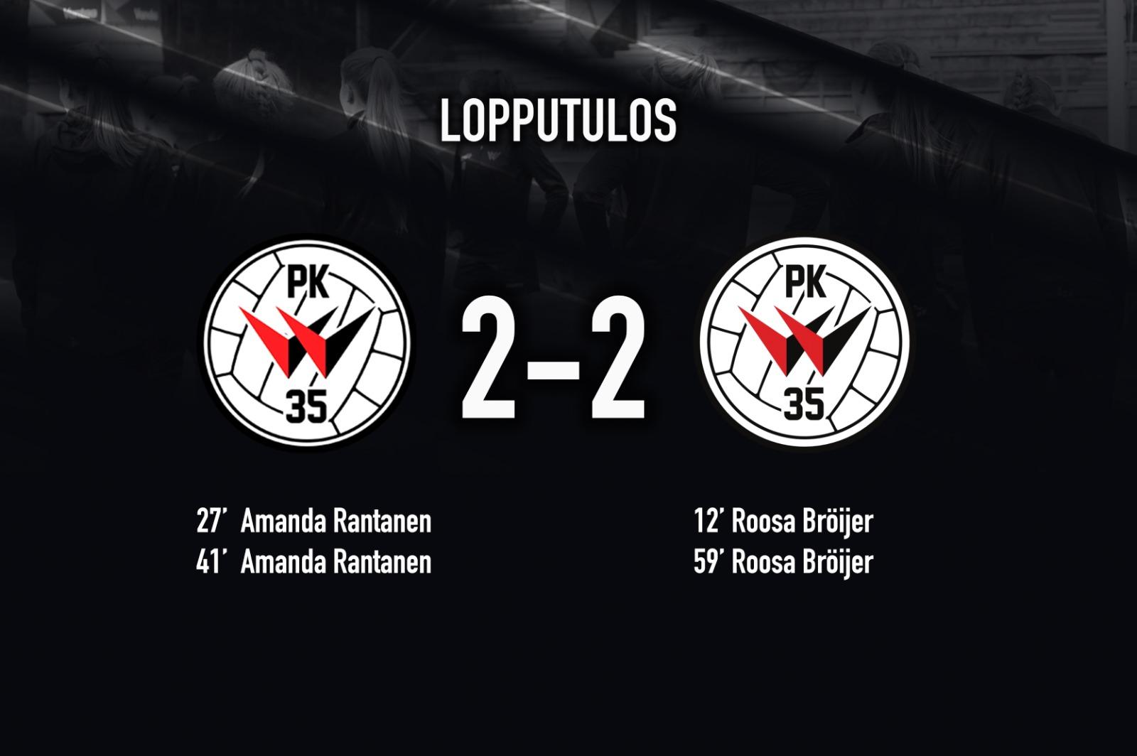 Pallokerho 35 – PK 35 Vantaa 2 2, Kansallinen Liiga 3.6.2021