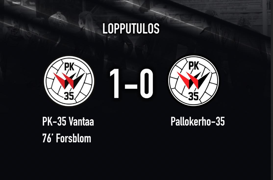 PK 35 Vantaa – Pallokerho 35 1 0, 28.8.2021