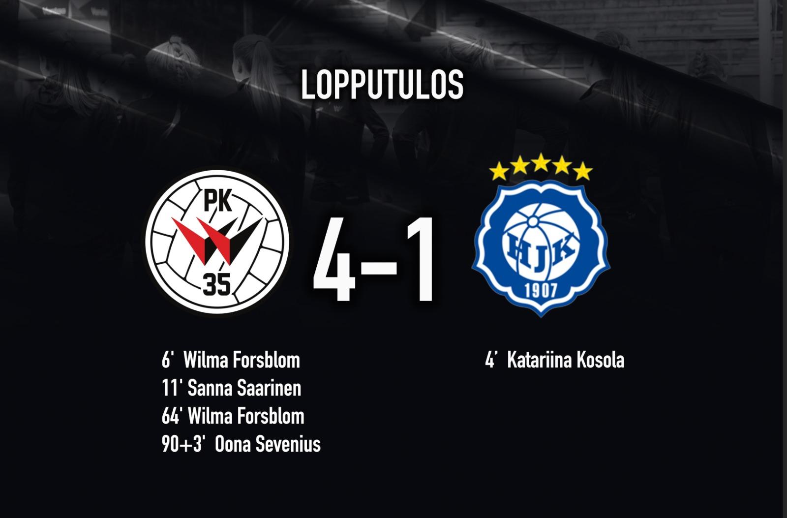 Ottelukooste: PK-35 Vantaa – HJK 4-1 (2-1) 10.9.2021