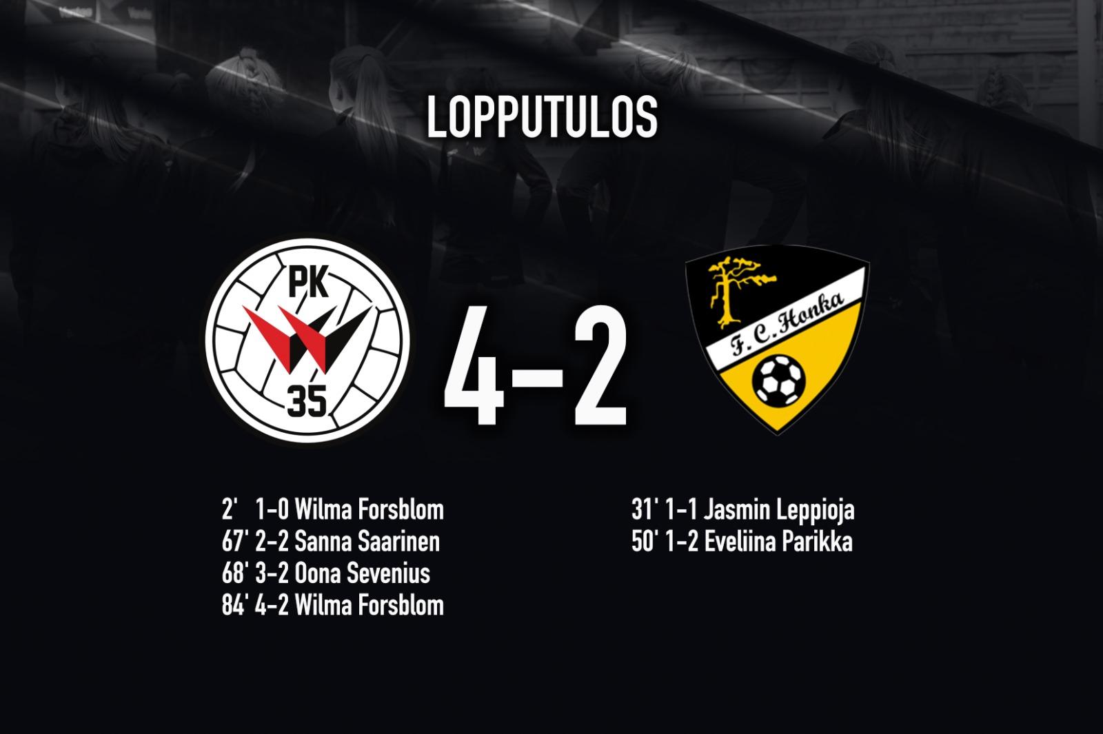 PK 35 Vantaa – FC Honka 4 2, Kansallinen Liiga 9.10.2021